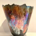 vase raku pièce unique mordoré handmade claymee
