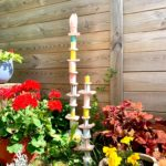 totem céramique personnalisé jardin pièce unique