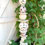décoration céramique jardin couleurs pastel